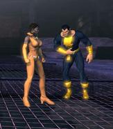 Vixen and Black Adam (A Rip in Time)