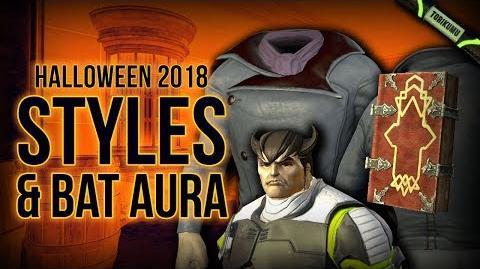DCUO Halloween 2018 Styles, Hairstyle & Bat Aura