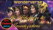 DCUO Wonderverse Briefing & Investigation Locations