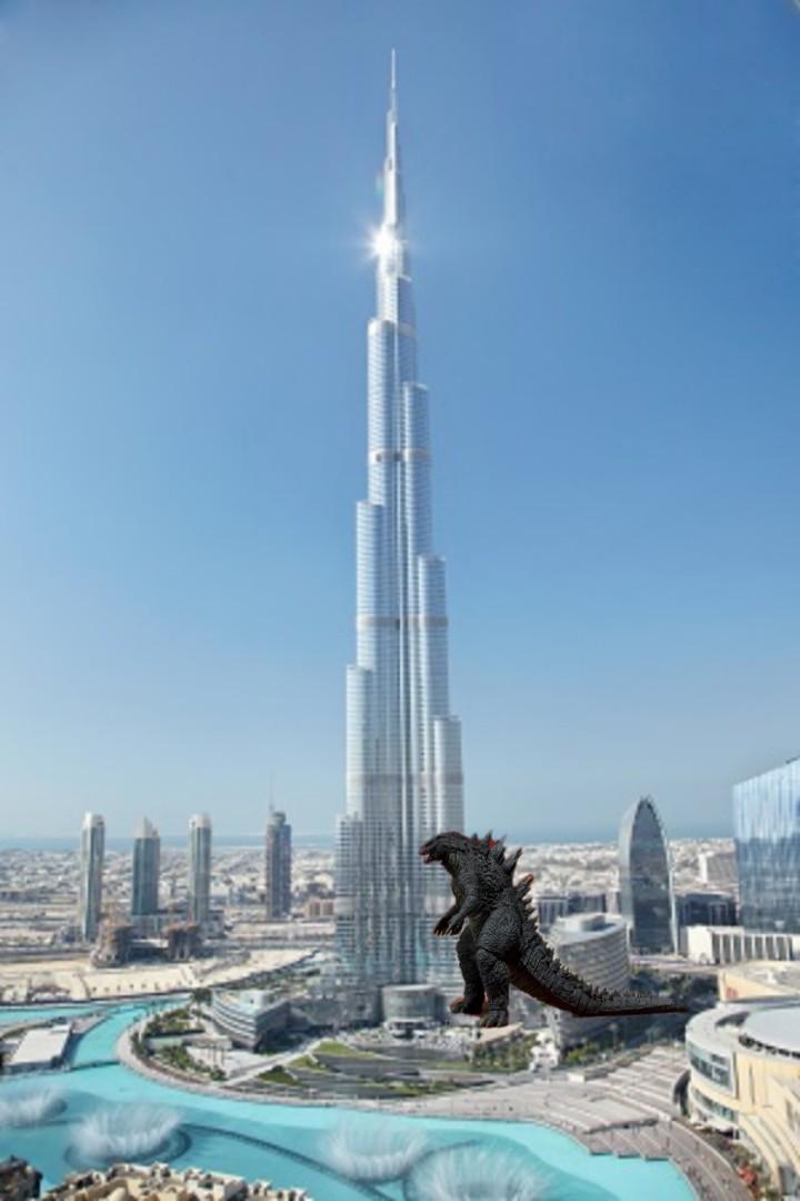 Godzilla vs Burg Khalifa