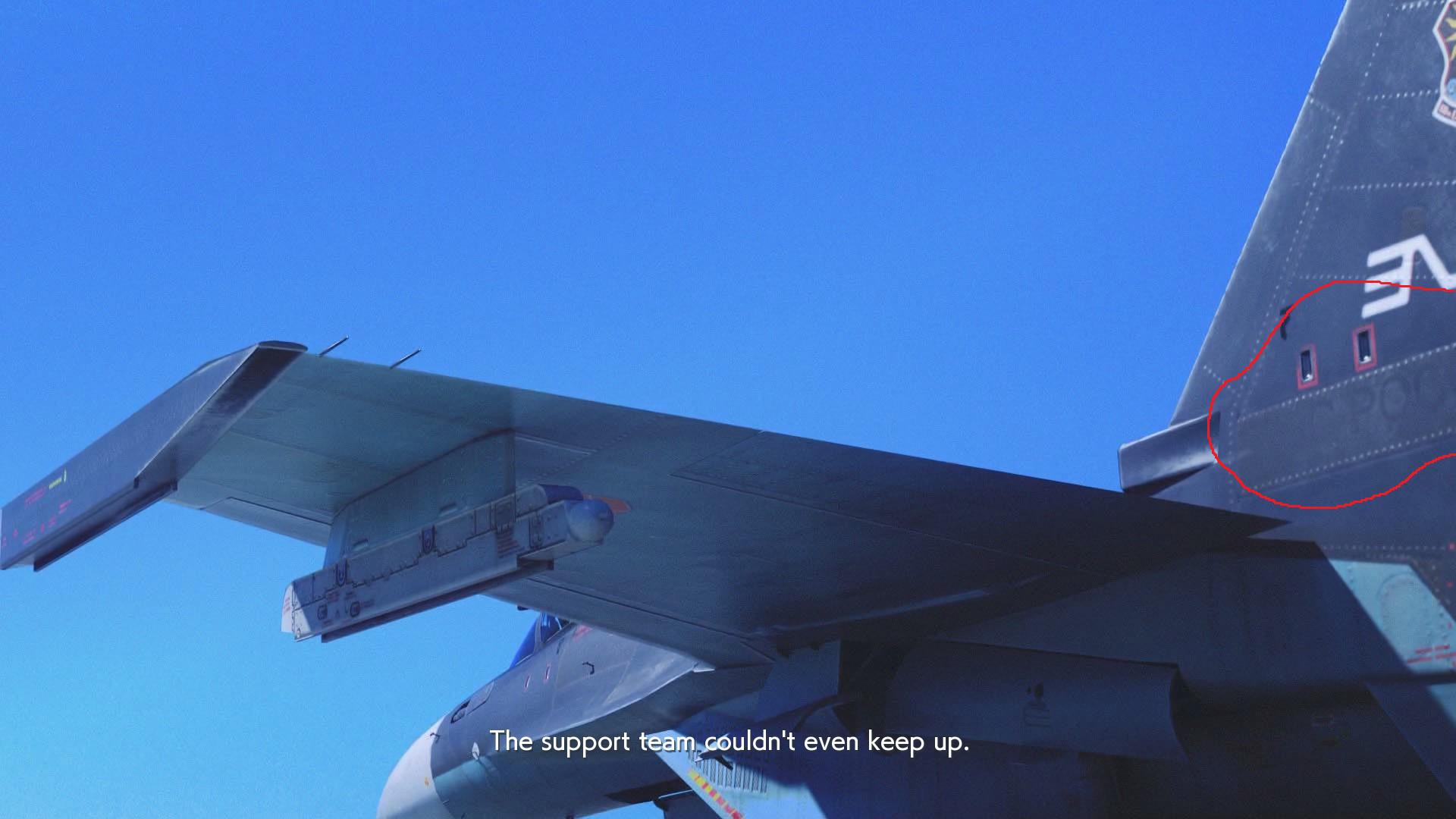 Very faint ВВС РОССИИ seen on Sol Squadron Su-30M2