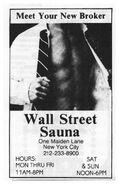 Wall St Sauna ad