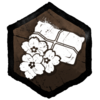 """""""Ein handtellergroßes, handgenähtes Duftkissen mit 4 goldenen Blütenblättern darin. Die Primel öffnet sich kurz bevor die Nacht den Tag ablöst."""""""