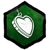 """""""Eine geschlossene Silberhalskette in Herzform. Im schlichten Inneren ist E+M eingraviert."""""""