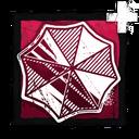 Iridescent Umbrella Badge