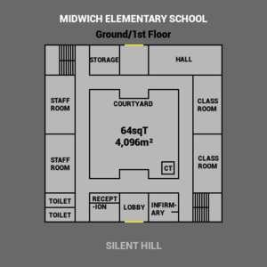 MidwichElementarySchoolOutline LowerFloor.png