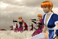 Kasumi and clones backed away