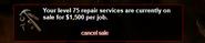 Repair price update