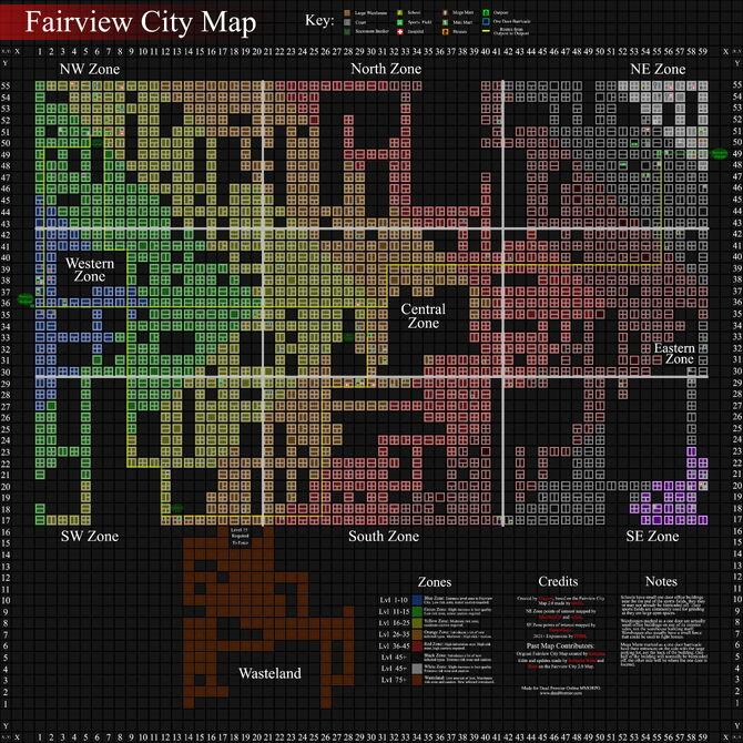 Fairview City Map 2016