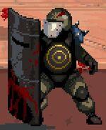 Riot shield zombie