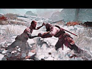 "God_of_War_-_Kratos_Fighting_""The_Stranger"""