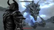 Dragonborn vs Alduin First Meeting - Skyrim Special Edition Remastered