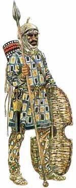 A Persian Immortal holding his Gerron