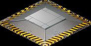 Secret passage crate platform