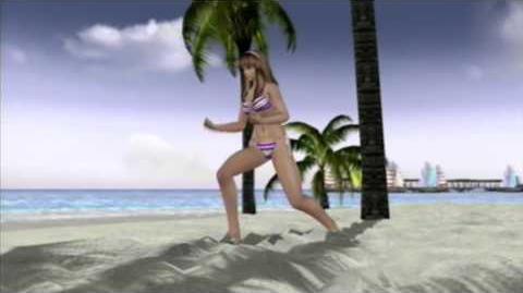 DEAD OR ALIVE XTREME BEACH VOLLEYBALL Hitomi training scene in Nikki beach Lyra