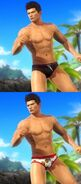 """Zack Island Swimwear"" DLC outfit"