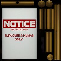 Sign square Notice