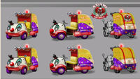 Dead rising 2 Off the Record concept art from main menu art page clown car with adam