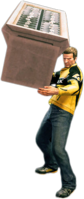 Dead rising rotating display holding