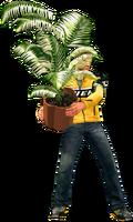 Dead rising small fern tree holding