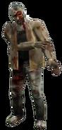 Dead rising zombie brown sweater one eye
