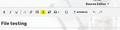 MultipleUpload button