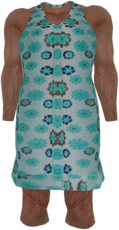 Dead rising Blue and White Flowery Dress