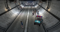 Dead rising underground tunnel between warehouse a b and c