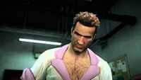 Dead Rising 2 Chuck makes a combo weapon in the Diner Waitress outfit (HD)