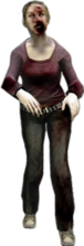 Dead rising zombies skinny blonde bloody face