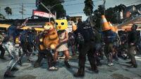 Dead rising 3 servbot mask robot bear dieter does cars zip gasoline PYLON