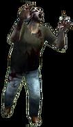 Dead rising zombie green tshirt blue jeans