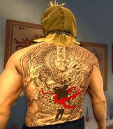 Dead Rising 4 dragon Back tattoo