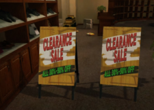 Rafael's Shoes Clearance Signs