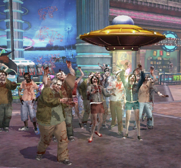 Dead rising Giant Spaceship Toy attracting zombies.jpg