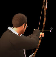 Dead rising bow and arrow shooting