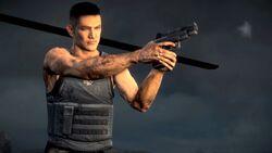 Brad with Gun