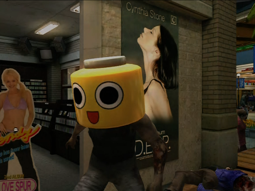 Dead rising servbot mask on zombie.png