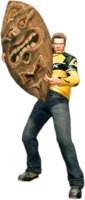 Dead rising tiki mask holding