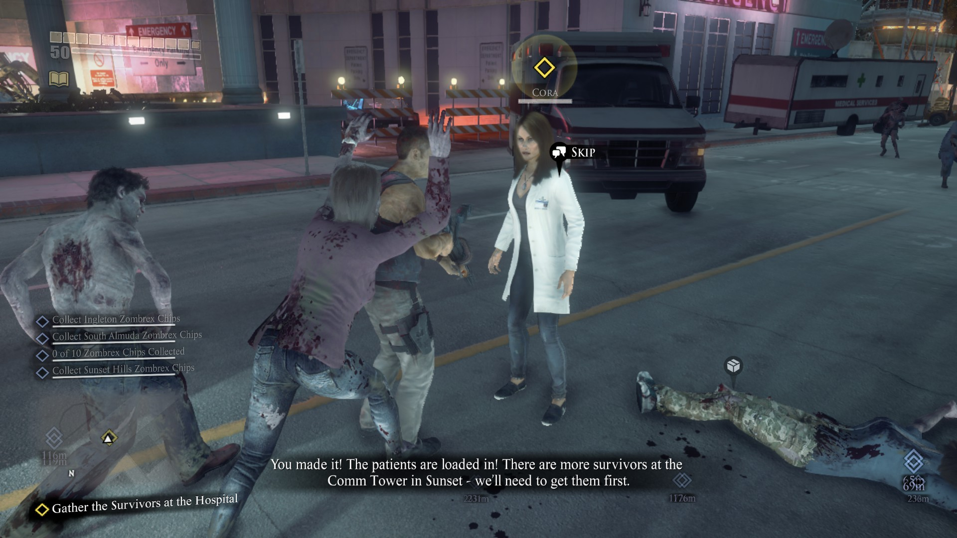 Gather the Survivors at the Hospital