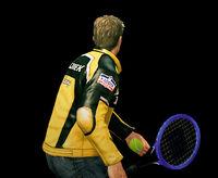Dead rising tennis racquet throwing