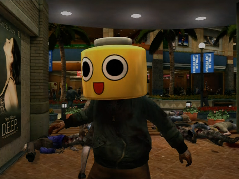 Dead rising servbot mask on zombie (2).png