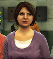 Camille Payne in shelter