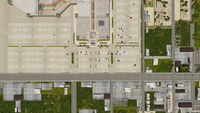 Willamette parkview mall parking lot from air