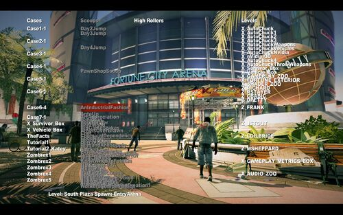 Dead rising 2 debug mode main screen.jpg
