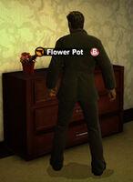 Dead rising in case west flower pot