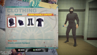 Dead rising 2 ninja outfit