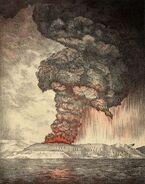 Krakatoa eruption lithograph