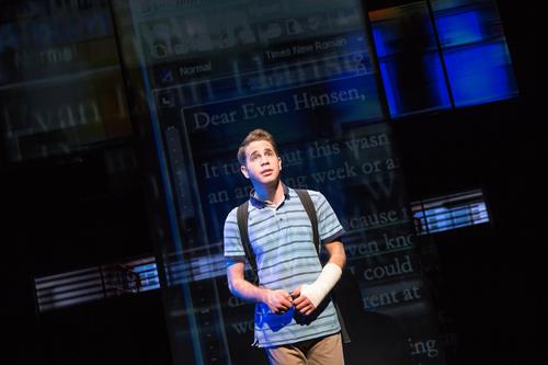 Ben Platt as Evan Hansen in the Broadway production promotional still.png