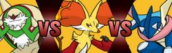 Kalos Starter Pokemon Battle Royale